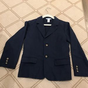 Janie and Jack Navy Blue Linen and Cotton Blazer 7
